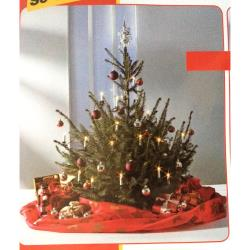 Weihnachtsbaumsack Weihnachtsdecke Transportsack bis 2,5m große Bäume Farbe: rot