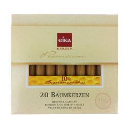 eika BAUMKERZEN 20 Stck 10% BIENENWACHS Kerzen Baumkerze Christbaumkerze