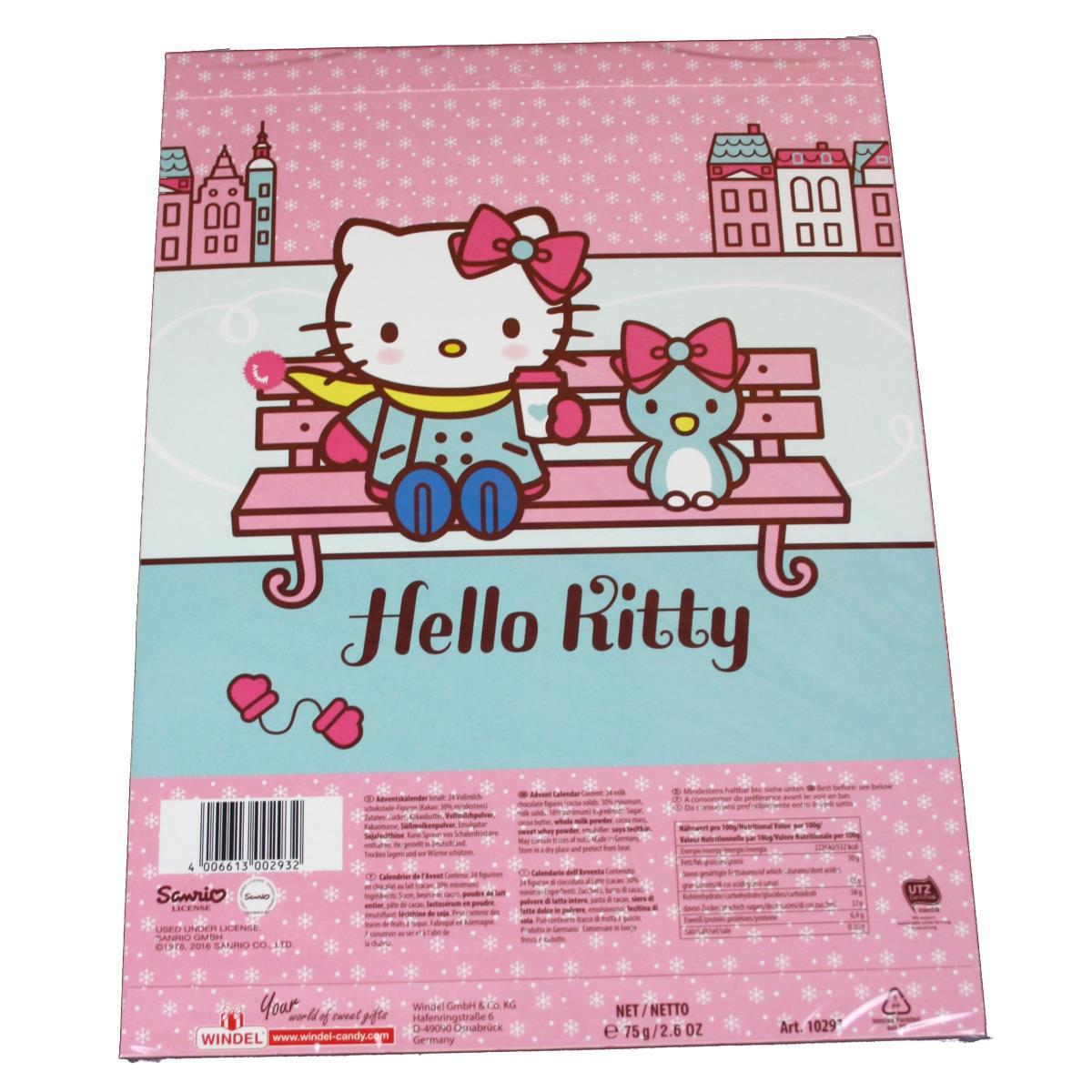Windel Weihnachtskalender.Windel Hello Kitty Adventskalender 75g Weihnachtskalender Kalender