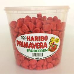 Haribo Primavera Erdbeeren Schaumzucker, Dose ca. 500 Stück / 1150 g,Haribo,4001686405574, 4001686405574
