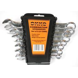 Okko 8 teiliges Maul Ringschlüssel Schlüssel Set 8-19 mm,Okko,2000511077629, 2000511077629