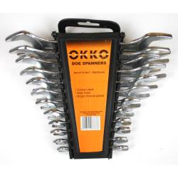 Okko 12 teiliges Maulschlüssel Schlüssel Set 6 x 7 mm - 30 x 32 mm