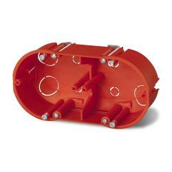 Hohlwanddose 2-fach Abzweigdose Hohlraumdose Doppel Schalterdose Ø 60 x 47 mm,Elektro-Plast,0210-00, 5901130482160