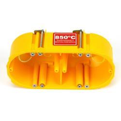 Hohlwanddose 2-fach Abzweigdose Hohlraumdose halogenfrei Ø60x47mm, gelb