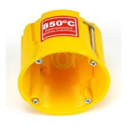 Hohlwanddose Abzweigdose Hohlraumdose halogenfrei Ø60x60mm gelb, für 68mm Loch,Elektro-Plast,0220-0N, 5901130484690