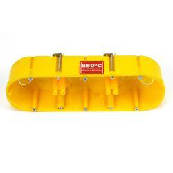 Hohlwanddose 3-fach Abzweigdose Hohlraumdose halogenfrei Ø60x47mm, gelb