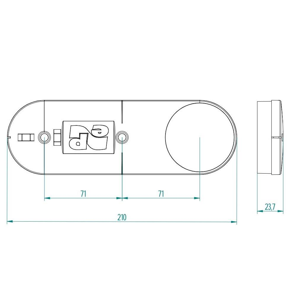 Bohrschablone für Hohlwanddose mit Wasserwaage Ø68mm Schalterdose Unterputzdose ,Elektro-Plast,0237-00, 5901752633780