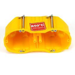 Hohlwanddose 2-fach Abzweigdose Hohlraumdose halogenfrei Ø60x60mm, gelb,Elektro-Plast,0286-0N, 5901752639935