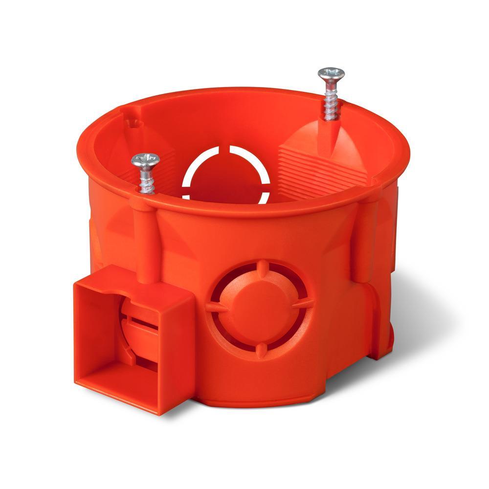 unterputzdose schalterdose Ø 60 x 41 mm orange verbindungsdose
