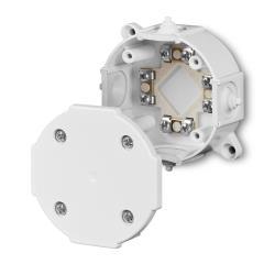 Abzweigdose Verteilerdose IP41weiß 80x80x33 Aufputz Verbindungsdose mit Klemme