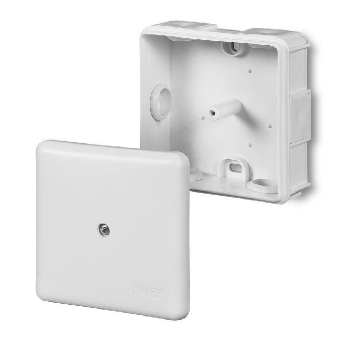 Abzweigdose Verteilerdose IP55 weiß 86x86x39 Aufputz Verbindungsdose EP-LUX,Elektro-Plast,0226-00, 5901130480210