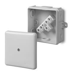 Abzweigdose Aufputz Verteilerdose IP55 grau 86x86x39 EP-LUX mit klemme,Elektro-Plast,0226-41, 5901752632363