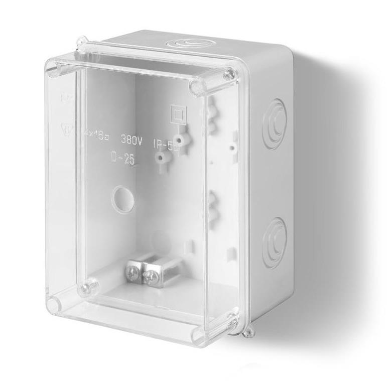 Aufputz Schalkasten IP55 Verteilerkasten 158x118x97 transparent Gehäuse,Elektro-Plast,0229-00, 5901130480258