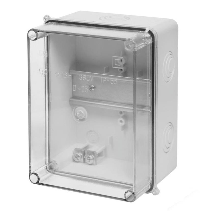 Aufputz Schalkasten IP55 Verteilerkasten 158x118x97 transparent Gehäuse TH35,Elektro-Plast,0230-00, 5901130480265