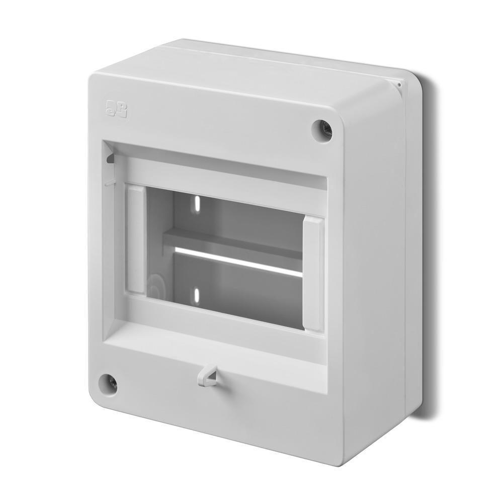Sicherungskasten Verteilerkasten Aufputzverteiler 4 Module 1-reihig IP42