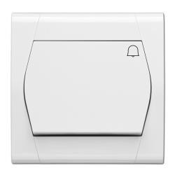 Taster Klingel Unterputz 10A 230V weiß serie FESTA