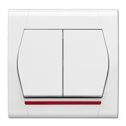 Serienschalter Beleuchtet Unterputz 10A 230V Lichtschalter weiß serie FESTA