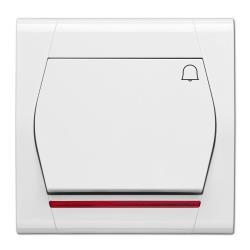 Taster Klingel Beleuchtet Unterputz 10A 230V weiß serie FESTA