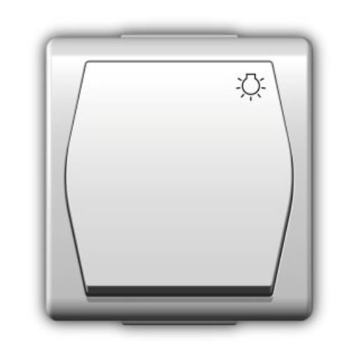 Aufputz Taster Lichtschalter Schalter IP44, einfach, Farbe weiß, 10A  HERMES2,Elektro-Plast,1004-00, 5907569150854