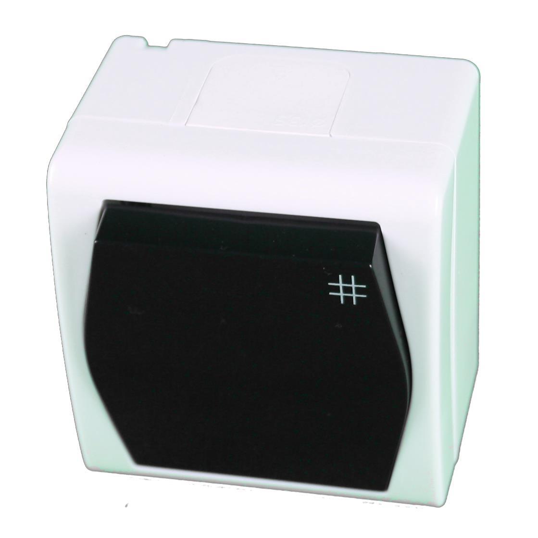 Aufputz AP Schalter einfach Kreuzschalter IP44 Farbe weiß/schwarz HERMES2,Elektro-Plast,1006-01, 5907569150908