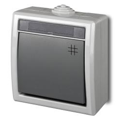 Aufputz Kreuzschalter Schalter 10A 230 V IP55 Farbe grau AQUANT,Elektro-Plast,1206-10, 5901130487790