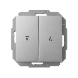 Unterputz Jalousien Taster 10A silber Premium serie SENTIA,Elektro-Plast,1416-56, 5901752630123