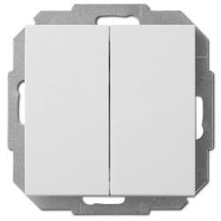 Unterputz Wechselschalter doppelt / Serienschalter 10A weiß Premium serie SENTIA,Elektro-Plast,1418-10, 5906868430667