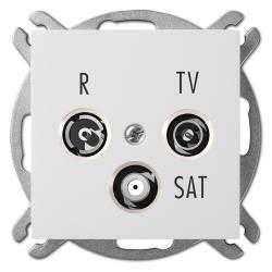 Unterputz Antennendose Radio + TV + SAT weiß Premium serie SENTIA,Elektro-Plast,1453-10, 5906868431343