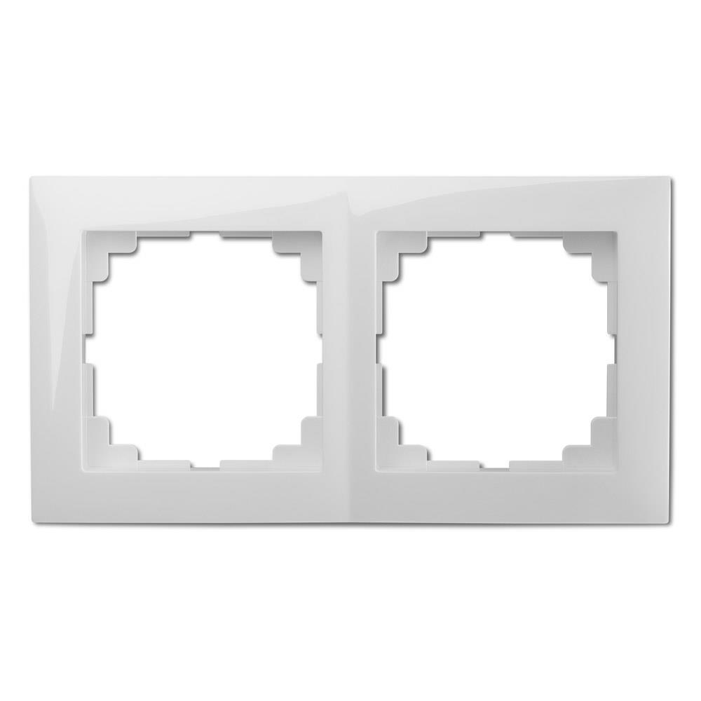 Universal Rahmen 2-fach weiß Premium serie SENTIA,Elektro-Plast,1472-00, 5906868431800