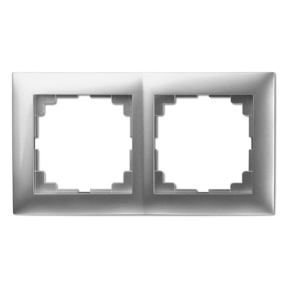 Universal Rahmen 2-fach silber Premium serie SENTIA,Elektro-Plast,1472-56, 5901752630741