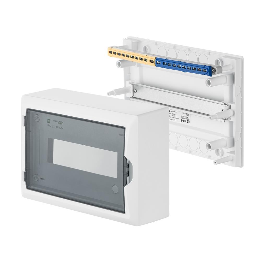 Sicherungskasten Verteilerkasten Aufputzverteiler 12 Module Aufputz IP40,Elektro-Plast,2503-01, 5902012986554