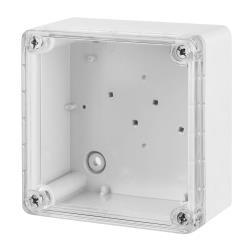 Aufputz Schalkasten IP65 Verteilerkasten 105x105x66 transparent Industriegehäuse,Elektro-Plast,2701-01, 5902431690629