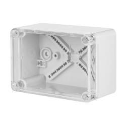 Aufputz Schalkasten IP65 Verteilerkasten 110x75x59 transparent Industrie Gehäuse