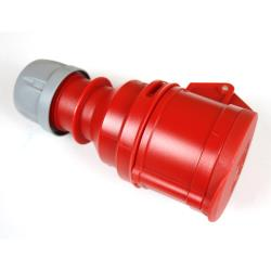 CEE Kupplung 16A 5-polig Starkstrom mit Deckel IP44 400V 6h Rot PCE,PCE,X100461, 5907711100461