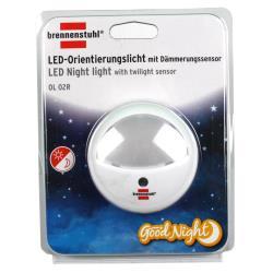 Brennenstuhl LED-Orientierungslicht rund Nachtlicht mit Dämmungssensor