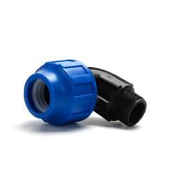 """PP Klemmfitting Rohr Verschraubung Trinkwasser DVGW Winkel Ø20 x AG 3/4"""",STP,707021, 8435006803782"""