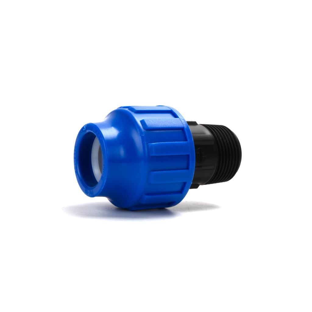 "PP Klemmfitting Rohr Verschraubung Trinkwasser DVGW Kupplung Ø40 x AG 1 1/4"",STP,704040, 8435006800422"