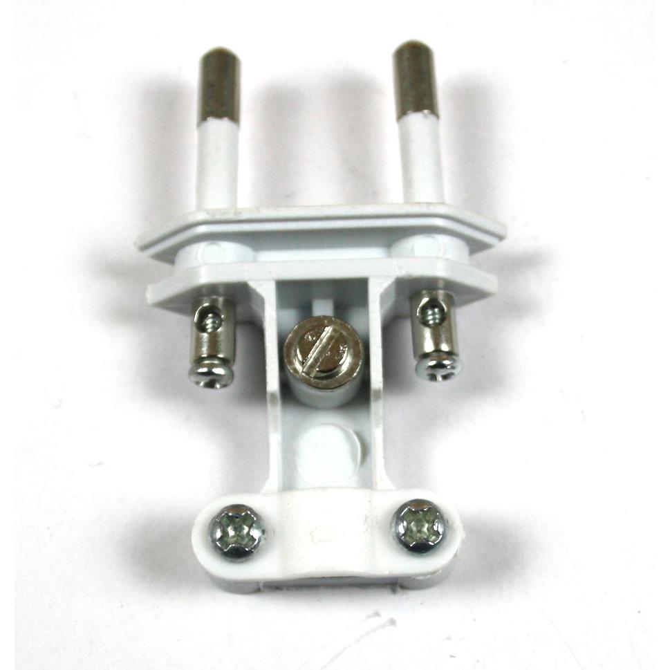 Eurostecker 10 Stück gerade flach Weiß Euro Stecker Stromstecker 2,5A 230V,Vagner SDH,KF-GRC-1, 0721947482017