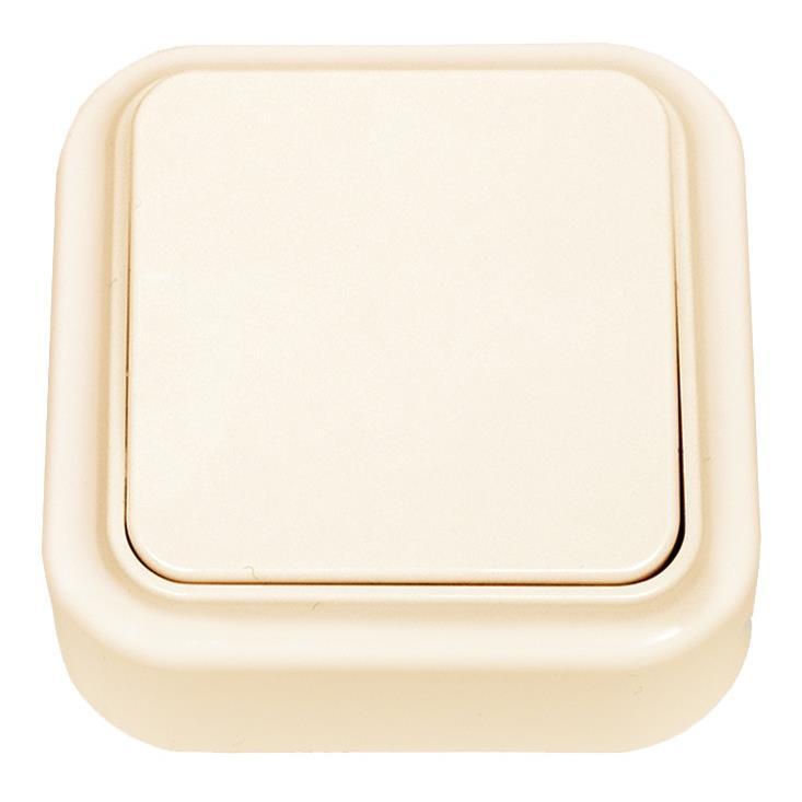 Aufputz Lichtschalter  IP20, farbe creme, serie OKKO,OKKO,A1 6-131 (01), 4810158059326