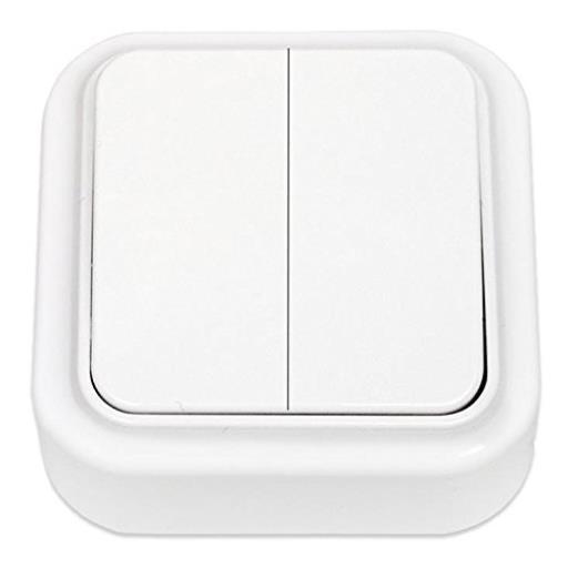 Aufputz Serienschalter IP20 Lichtschalter, farbe weiß, serie OKKO,OKKO,A56-134, 4810158059371