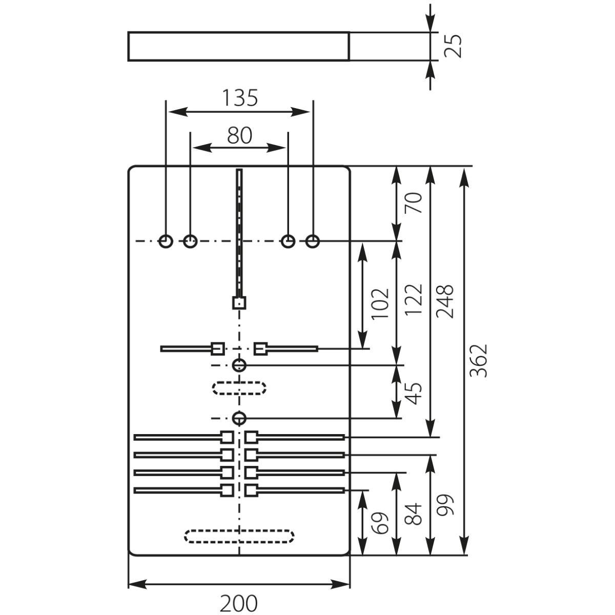 Zählertafel für Stromzähler Schalttafeln Zählerbrett 10.11,ELEKTRO-PLAST,10.11, 5903978376373