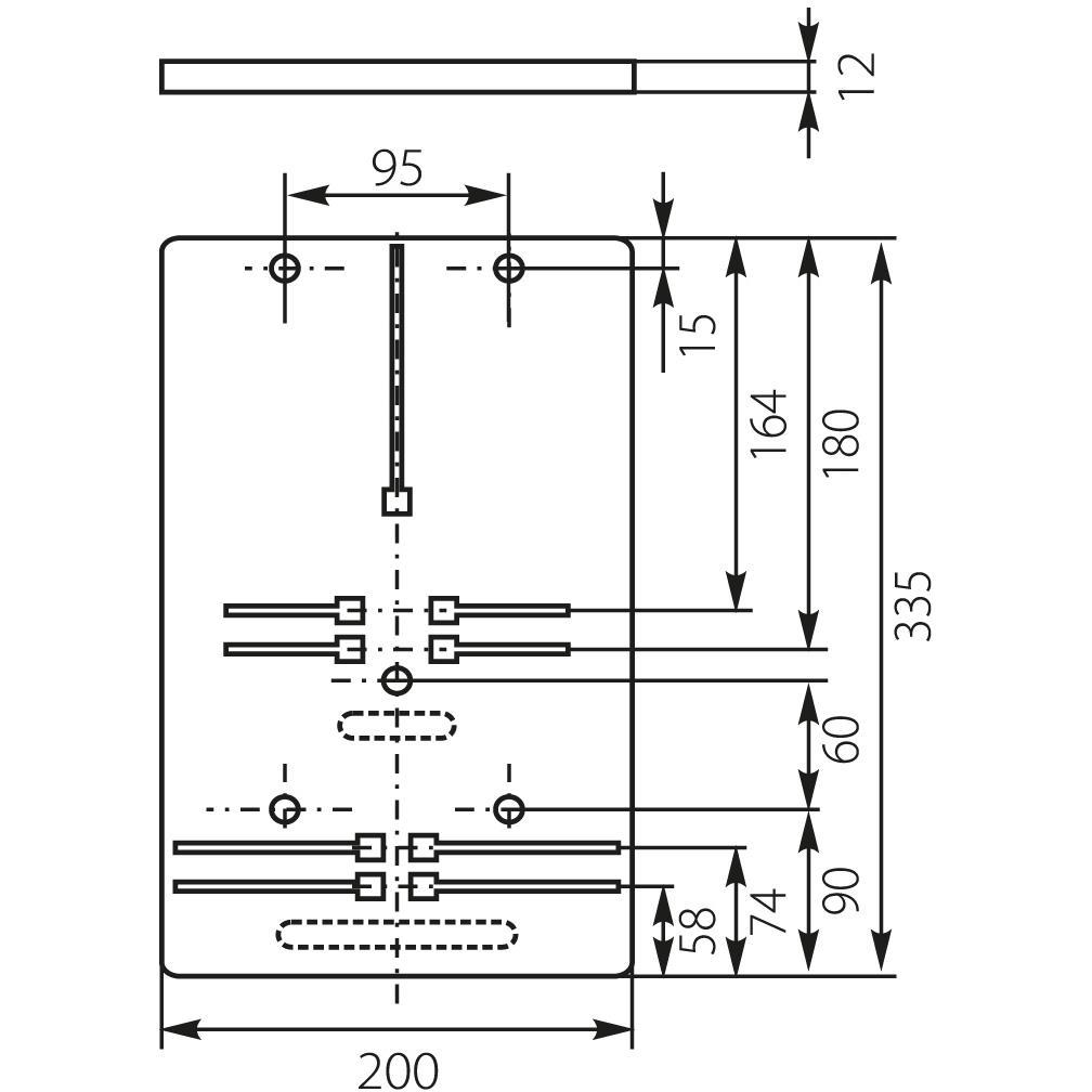 Zählertafel für Stromzähler Schalttafeln Zählerbrett 10.12 ,ELEKTRO-PLAST,10.12, 5903978376502