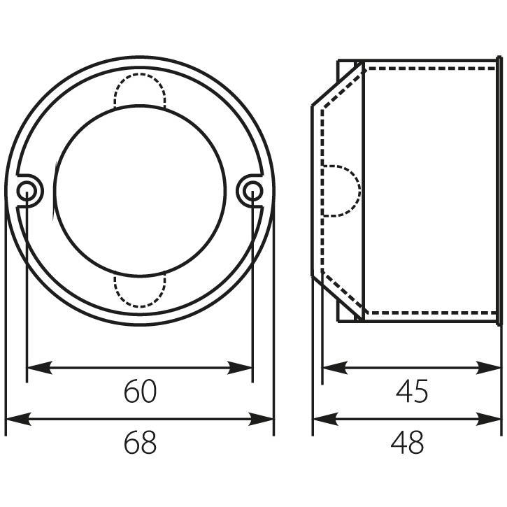 Berühmt Hohlwanddose 10 Stück Schalterdose Unterputz-Installationsdose Ø BI98