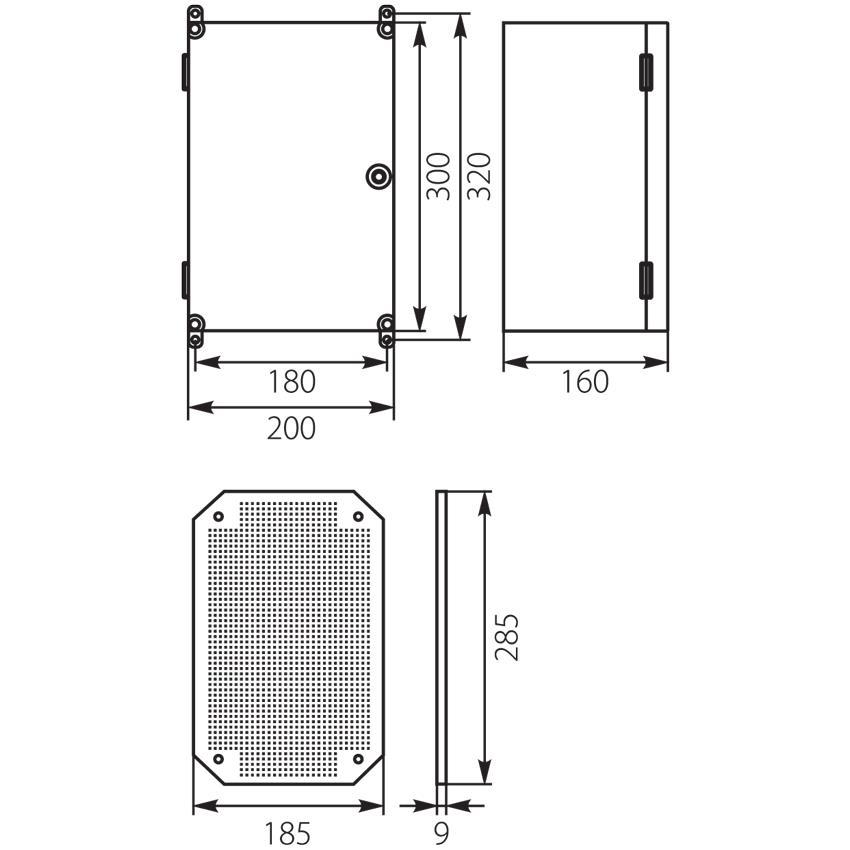 Schaltschrank mit Schloss IP65 200x300x160 Aufputz Verteilerschrank 43.01  grau,ELEKTRO-PLAST,43.01, 5905548285900