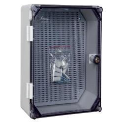 Schaltschrank mit Schloss IP65 200x300x160 Aufputz Verteilerschrank 43.02 grau