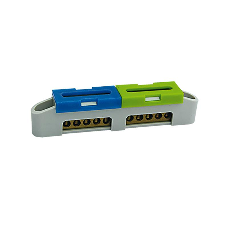 N+PE Klemme 2x5 Anschlüsse Schutzleiterklemme Sammelklemme Grau LZ-4 Klemmblock,ELEKTRO-PLAST,47.114, 5905548287256