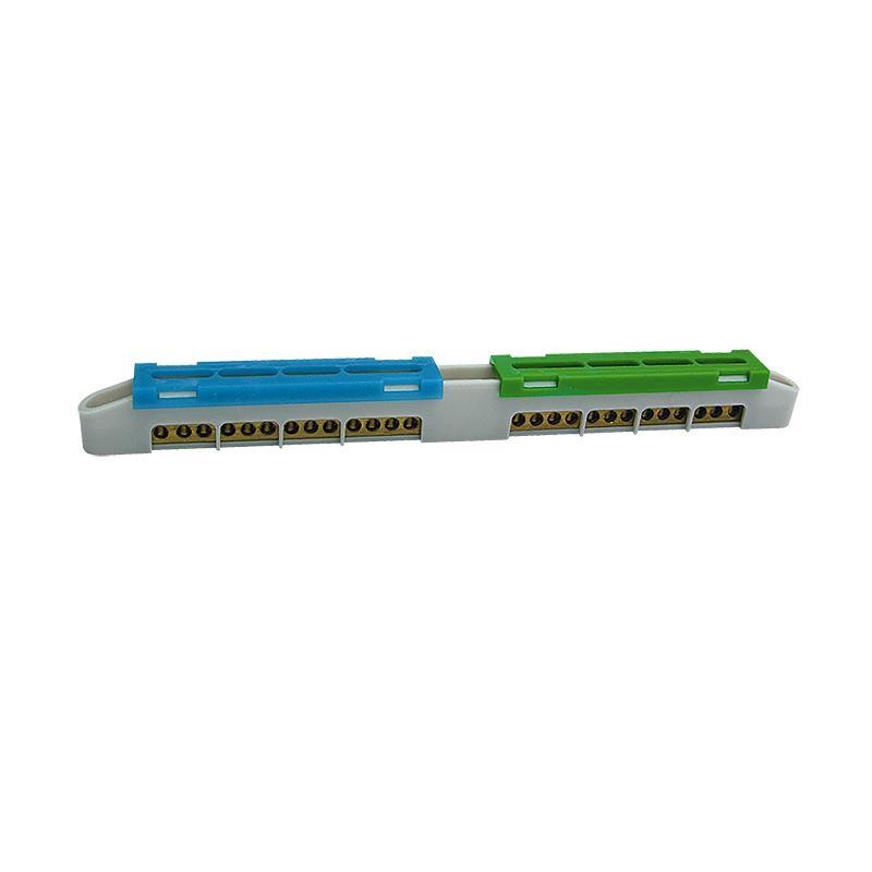 N+PE Klemme 2x13 Anschlüsse Schutzleiterklemme Sammelklemme Grau LZ-12,ELEKTRO-PLAST,47.112, 5905548287287