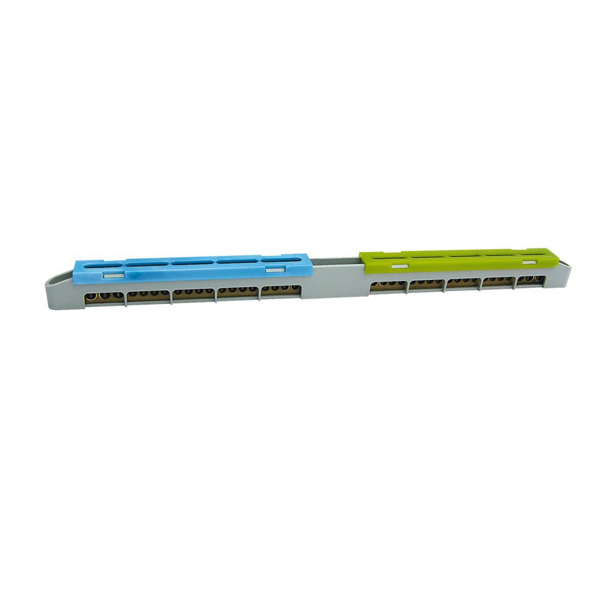 N+PE Klemme 2x19 Anschlüsse Schutzleiterklemme Sammelklemme Grau LZ-18,ELEKTRO-PLAST,47.118, 5905548287294
