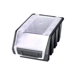 Sichtlagerbox schwarz + Deckel Lagerbox Stapelbox Sichtbox Größe 2 plus ,patrol,5901238224600, 5901238224600