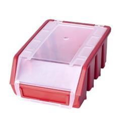 Sichtlagerbox ROT + Deckel Lagerbox Stapelbox Sichtbox Größe 3 plus ,patrol,5901238242901, 5901238242901